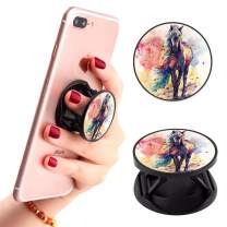 Watercolor Horse Phone Finger Foldable Expanding Stand Holder Kickstand Hand Grip Car Mount Hooks Widely Compatible with Almost All Phones/Cases