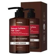 KUNDAL Anti-Hair Loss & Caffein Scalp Care Deep Cleansing For Hair Loss(Baby Powder) Shampoo 500ml