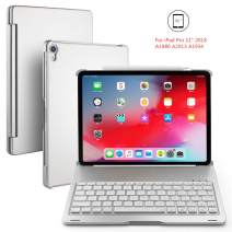 BHUATO iPad Keyboard Case Compatible 2018 iPad Pro 11 Inches Wireless Bluetooth 7 Color Backlit Auto Wake Sleep Light & Thin 130 Degrees Flip Tablet Protector Supports Pencil 2nd Gen Charging