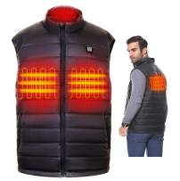 TAJARLY Heated Vest Lightweight,Washable Heated Vests for Men with Battery Pack