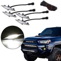 KRSCT Grille Light Compatible With 2014 2015 2016 2017 2018 2019 Toyota 4 Runner TRD Pro Smoke Lens Amber Light-Small