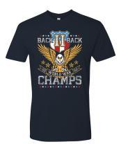 Panoware Men's Patriotic Back II Back World War Champs T-Shirt