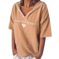 Keepfit Eat Sleep Beach Repeat Letters Print Hooded T-Shirt Tops for Women Girls