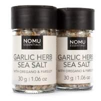NOMU Essentials Garlic & Herb Salt Blend (2.12 oz | 2-pack) | MSG & Gluten Free, Non-GMO & Non-Irradiated