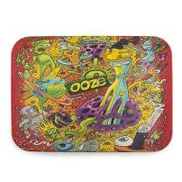 """Ooze Life - Biodegradable Rolling Tray - Chemical Free Bamboo Rolling Tray - Serving Tray - Decomposable Tray - Dry Herb Accessories - Non-polluting Rolling Tray (Universe, Medium 11"""" x 8"""")"""