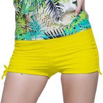 Micosuza Classical Women's Swim Boardshorts Beach Bikini Bottoms with Adjustable Ties 7 Color XS-XXL