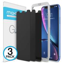 """Maxboost 3 Pack Privacy Screen Protector Compatible with iPhone XR and iPhone 11 (6.1"""") Tempered Glass Screen Protector [0.33mm] Advance Protection/Work with Most Case - 3 Pack"""