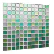 Stick On Backsplash Peel and Stick 3D Wall Tile PVC Backsplash for Kitchen Bathroom Blue Light Blue Color(10 Tiles)