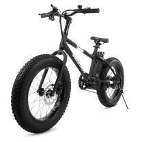 """Swagtron EB-6 Bandit E-Bike 350W Motor, Power Assist, 4"""" Tires, 20"""" Wheels, Removable 36V Lithium Ion Battery, Dual Disc Brakes– Electric Bike 7-Speed Shimano SIS Shifting Built for Trail Riding"""