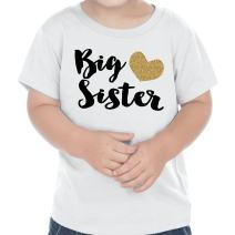 Bump and Beyond Designs Big Sister Shirt Gold Big Sister T-Shirt