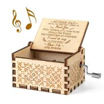 Ucuber You are My Sunshine Music Box - Gift for Dad from Son, Wood Laser Engraved Vintage Music Box Best Gift for Father/Christmas/Father's Day (Son to Dad)