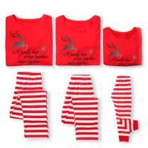 Family Matching Christmas Pajamas,Reindeer Printed Sleepwears 2 Piece Pjs Sets Kid 70
