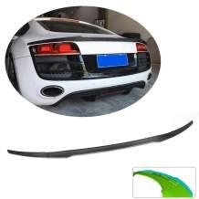 MCARCAR KIT Trunk Spoiler fits Audi R8 V8 V10 Hard-top Coupe 2008-2015 Factory Outlet Carbon Fiber CF Rear Boot Wing Lip