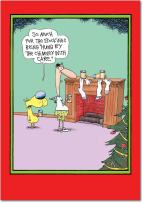 12 'Chimney With Care' Boxed Christmas Cards with Envelopes 4.63 x 6.75 inch, Funny Dog and Man Christmas Notes, Hilarious McCoy Cartoon Holiday Card, Unique Christmas Stationery B5798