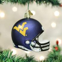 Old World Christmas University Glass Blown Ornaments for Christmas Tree, West Virginia Helmet