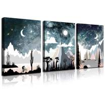 CANVASZON Wall Art for Bedroom Landscape Painting Outer Space Starlight Canvas Prints Star Sky Pictures Astronomy Artwork Bathroom Wall Décor Abstract Scenery Sunset for Office Living Room Home Deco
