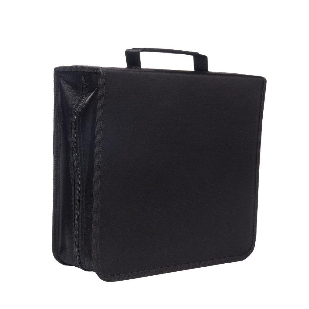 256 Capacity CD/DVD case Wallet, Storage,Holder,Booklet by Rekukos(Black)