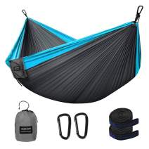 NIANYISO Camping Hammock Portable Lightweight Double Hammock with Parachute Nylon for Hiking Backyard and Beach