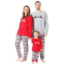 BOBORA Christmas Pajamas for Family, Merry Christmas Classic Reindeer Matching Family Christmas Pajama Set Toddler Jammies