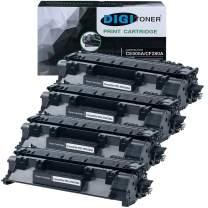 Digitoner CE505A 05A New Compatible Replacement Compatible Toner Cartridge for Laserjet P2050, P2055, P2055d, P2055x, P2055dn, Black, 4 Count