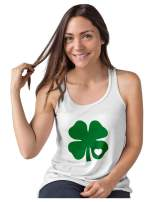 Irish Shamrock Green Clover Heart St. Patrick's Day Women Tank Top