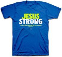 Kerusso Men's Jesus Strong T-Shirt - Royal -2X