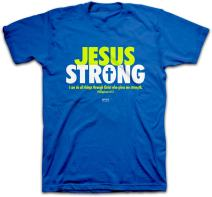 Kerusso Men's Jesus Strong T-Shirt - Royal -2X