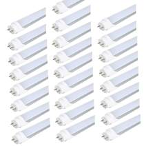 """HMINLED 4FT T8 T10 T12 LED Tube Light Bulbs 48"""" G13 18W 4000K Nature White AC85-265V Fluorescent Replacement Dual-end Powered Ballast Bypass Fixture Milky Cover 110V 277V(25 Pack)"""