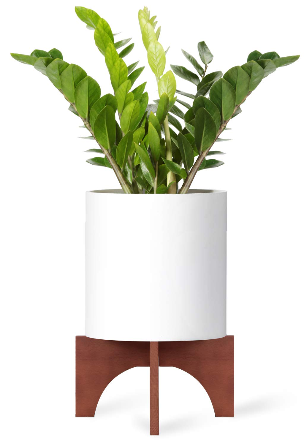 Mkono Plant Stand Wood Mid Century Flower Pot Holder (Pot Not Included) Home Decor Potted Rack Rustic Decor, Fits Up to 12 Inch Planter, Brown