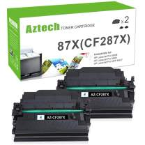 Aztech Compatible Toner Cartridge Replacement for HP 87X CF287X 87A CF287A Laserjet Enterprise M506 M506dn M506n M506x M527dn Laserjet Pro M501dn (Black, 2-Packs)
