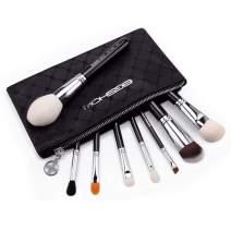 Makeup Brushes, Eigshow Premium Makeup Brush Set Synthetic Cosmetics Foundation Powder Concealers Blending Eye Shadows Face Kabuki Makeup Brush Sets (8pcs, Green) (Aristocratic 8pcs)