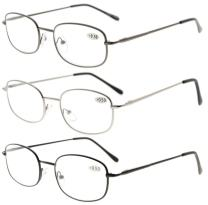Eyekepper Reading Glasses 3 Pairs Mixed Color +1.25