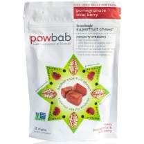 Powbab Baobab Superfruit Chews - 750mg Raw Baobab Powder Organic. Natural Immune Booster, 100% Antioxidants for Cold Season Anti Aging, Acai Pomegranate. Non GMO, Gluten Free. Real Superfood, 30 Chews