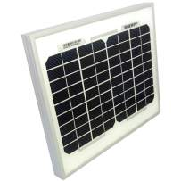 HQRP 6W 12 Volts Monocrystalline Solar Panel (Size of 5 Watt / 5W) 12V Battery Charger for Smart Home, Security Camera, Street Light, House, Garden, Shed, RV, Boat Solar System