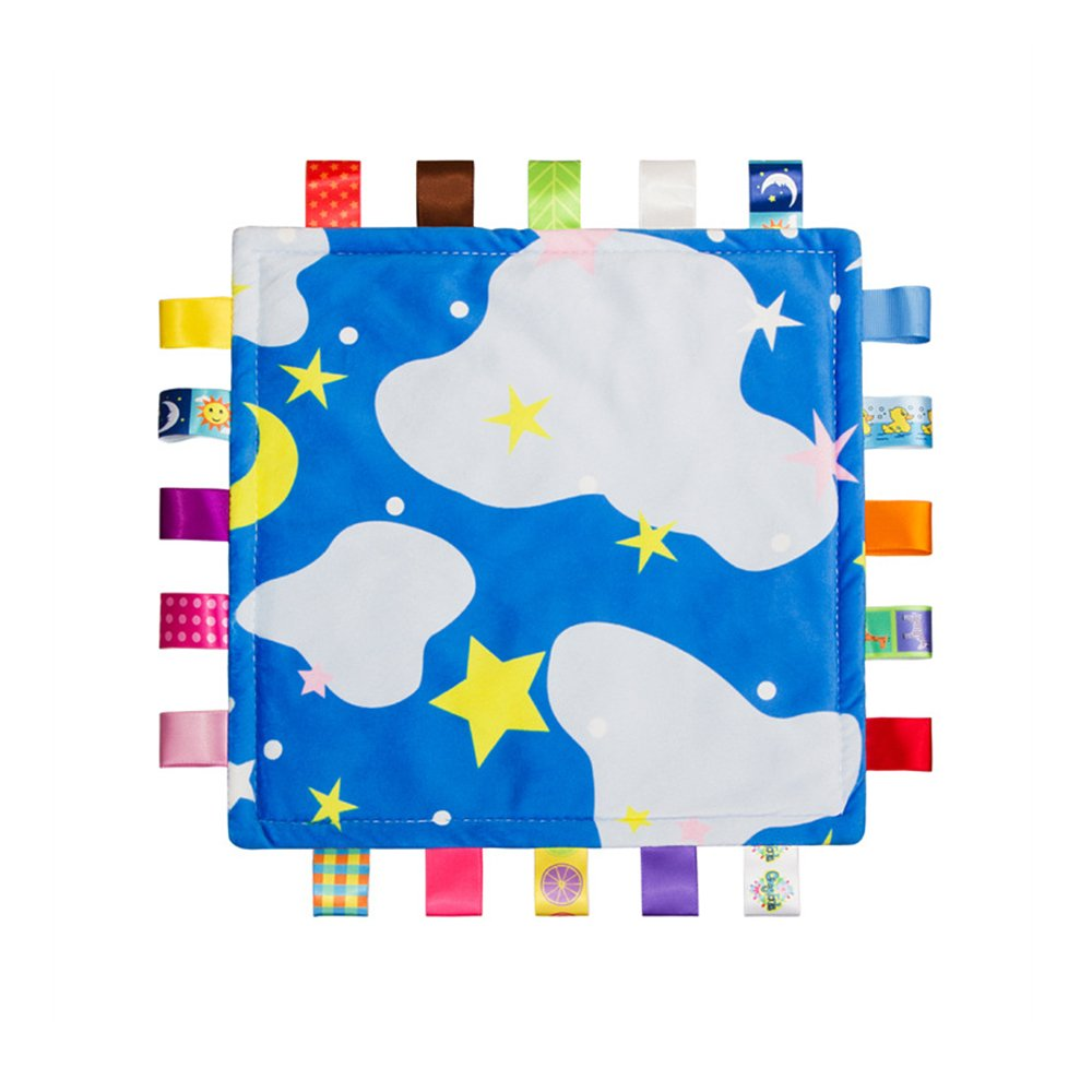 Colorful Baby Security Blanket Soft Touch Plush (no Damage to The Baby Skin) Sleep Helper,Appease Towel for Kids Toddlers