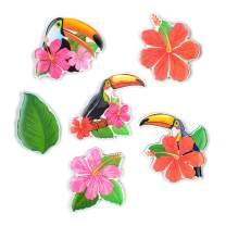 M MORCART Bird Magnets for Refrigerator Fridge Flower Decorative 6 Pcak 3D Cute Large Magnet for Kitchen Office Summer Gifts
