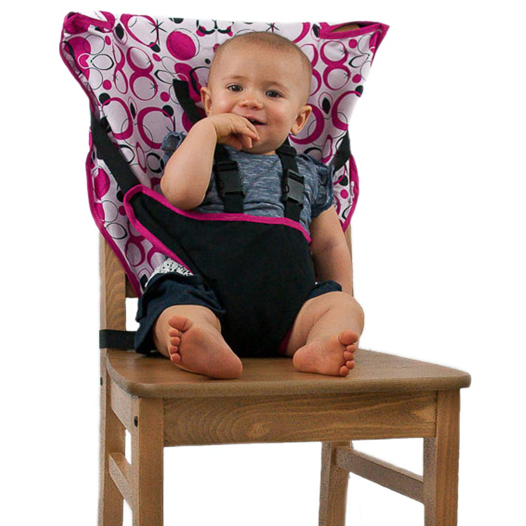 Cozy Cover Easy Seat Portable High Chair (Pink) - Quick, Easy, Convenient Cloth Travel High Chair Fits in Your Hand Bag So That You Can Have It With You Everywhere For a Happier, Safer Infant/Toddler