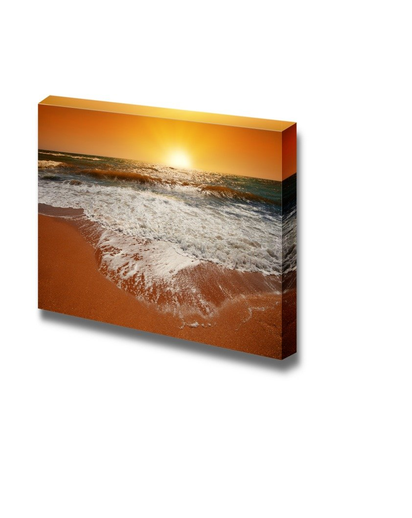 """wall26 - Canvas Prints Wall Art - Magic Orange Sunset Over Sea 