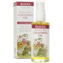 Badger - Face Cleansing Oil, Damascus Rose, Certified Organic Face Oil Cleanser, Facial Cleanser Oil, Natural Facial Cleansing Oil, Natural Oil Cleanser for Face, Face Cleanser Oil, 2 oz