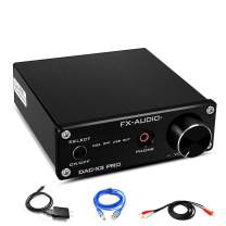 FX-AUDIO USB DAC Headphone Amplifier-CS8416/ESS9023 HiFi Mini Portable Stereo DAC Converter Headphone Amp 24-Bit/192 kHz for 3.5mm Headphone(Black)