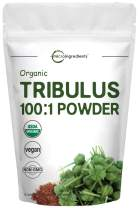 Organic Tribulus Terrestris 100:1 Powder Extract, 8 Ounce (227 Grams), for Healthy Libido and Testosterone Levels, Boosts Immune System and Energy, No GMOs, Vegan Friendly