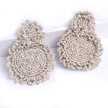 ELOT Beaded Statement Earrings for Women Bohemian Beaded Dangle Earring,Gifts for Women Mom