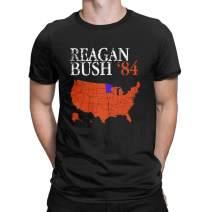 Vintage Distressed Style Reagan Bush '84 T-Shirt Conservative Republican GOP Tees Tops for Men