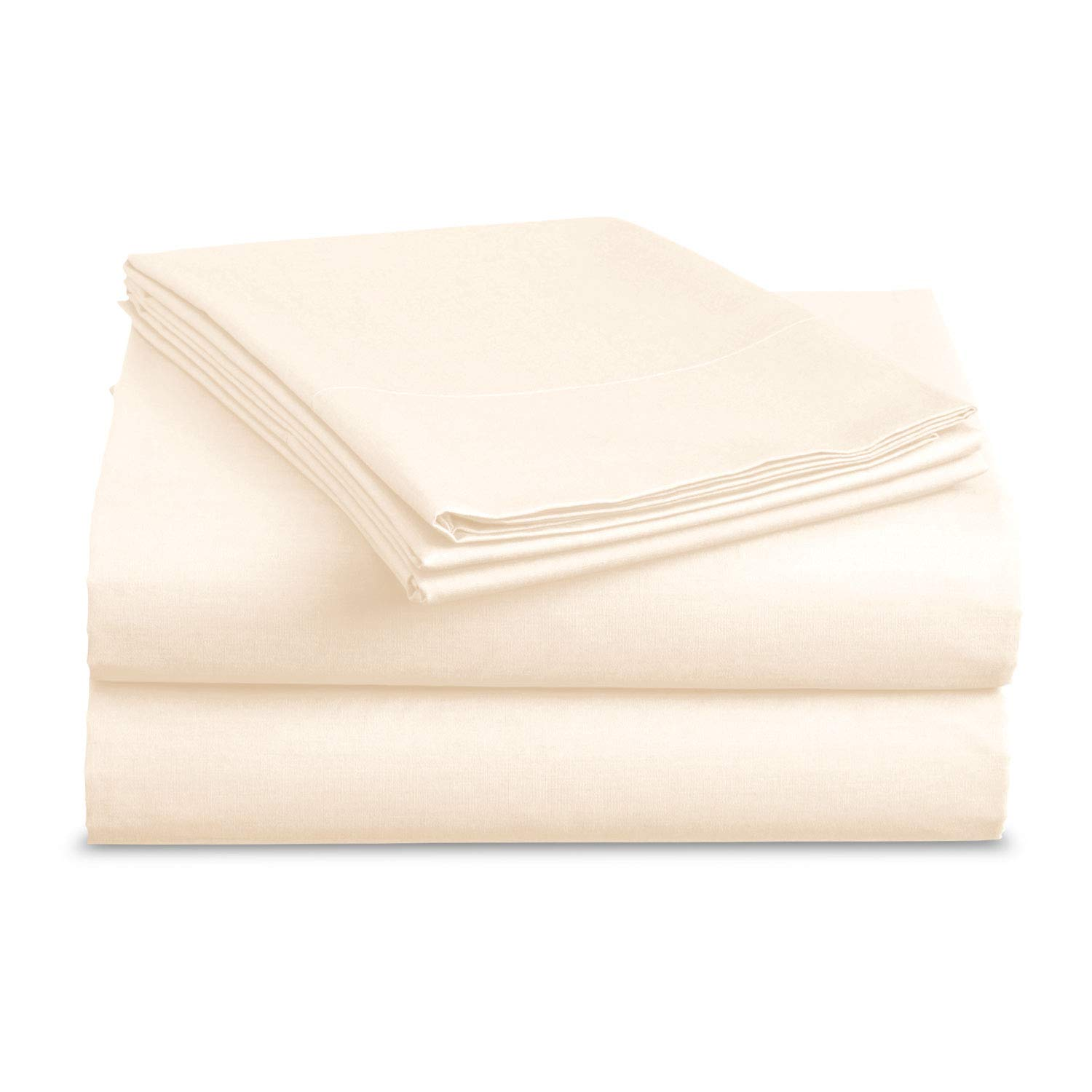 BASIC CHOICE Bed Sheet Set - Brushed Microfiber 2000 Bedding - Wrinkle, Fade, Stain Resistant - Hypoallergenic - 3 Piece - Unique Presents for Family (Twin, Ivory)