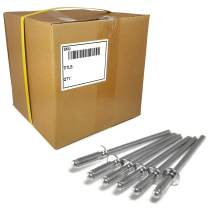"Aluminum Pop Rivets 1/8in Diameter (#4) Blind Rivet Bulk Box - 10,000 pieces (4-1, 1/8"" x 1/16"" Grip (0.032-0.062))"