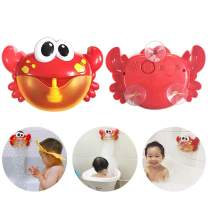 Leegoal Bubble Machine, Automated Spout Crab Bubble Maker Bath Toys with 12 Children's Songs for Boys, Girls