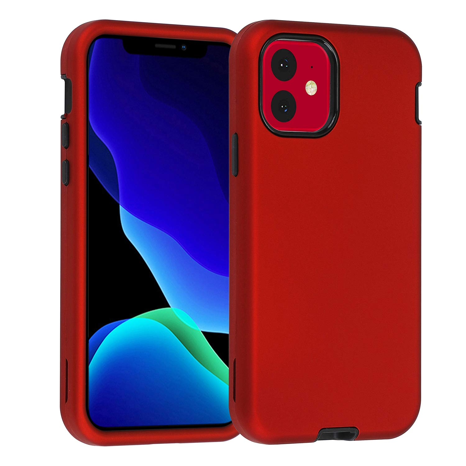 Heavy Duty PU Ring Kickstand iPhone 8 Case Holder Case Hybrid Shock Absorbing Full-body Protection Impact Drop Proof Cover Anti-scrch Shell for Apple iPhone 8 purple