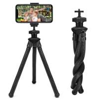 Phone Tripod, Maxchange Camera Tripod with Remote, 360° Rotating Phone Tripod Mount, Adjustable Flexible Tripod for Camera/Android Phone/Gopro/All Cell Phone