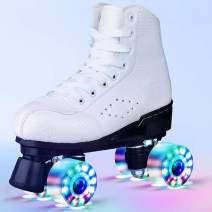 Beginner Adjustable Inline Skates for Adults, Club Recommendation Outdoor Four-Wheel Roller Skates, Safe and Durable Inline Roller Skates for Man and Women