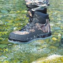 NEYGU Breathable Quick-Dry Wading Shoes with Felt Sole Used for Neoprene Stocking Foot Wader,Camo Wader Boots for Fishing and Hunting (8.5)